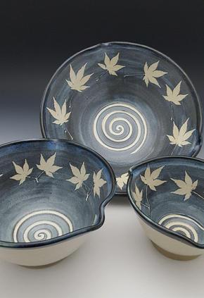 Bowls w/Japanese Maple Imprint