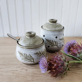 Honey Pot and Garlic Keeper