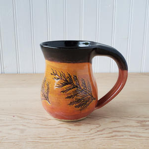 Orange and Black Cedar Mug