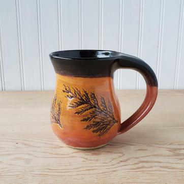 Orange and Black Cedar Mug