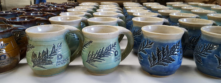 Custom Made Cedar Mugs