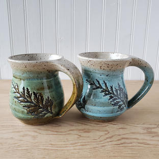 Speckled Green and Turquoise Mugs