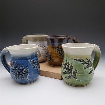4 Cedar Mugs w/ Different Colors