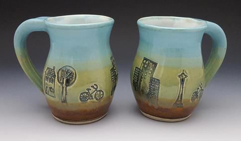 Mugs with Seattle Urban Scenery