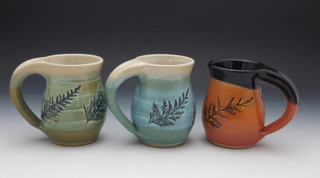 3 Cedar Mugs w/ Different Colors
