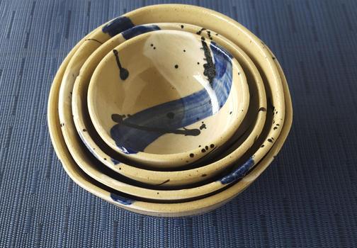 Blue Splash of Color Bowls