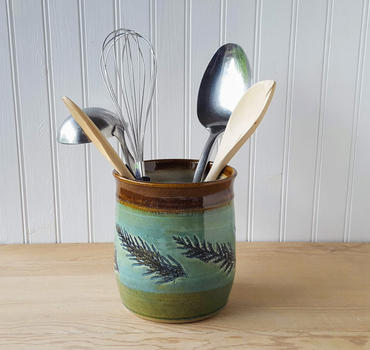 Green Cedar Utensil Holder