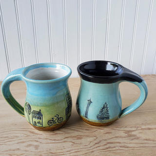 Black and White Seattle Mugs