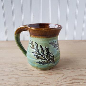 Green and Brown Cedar Mug