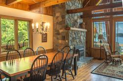 Open concept living quarters