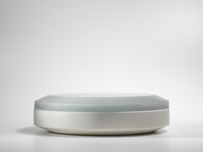Andrea Walsh, Large Round Box, Juniper and White 2015
