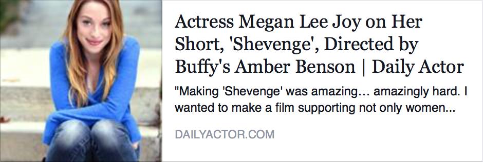 Megan Lee Joy, Daily Actor