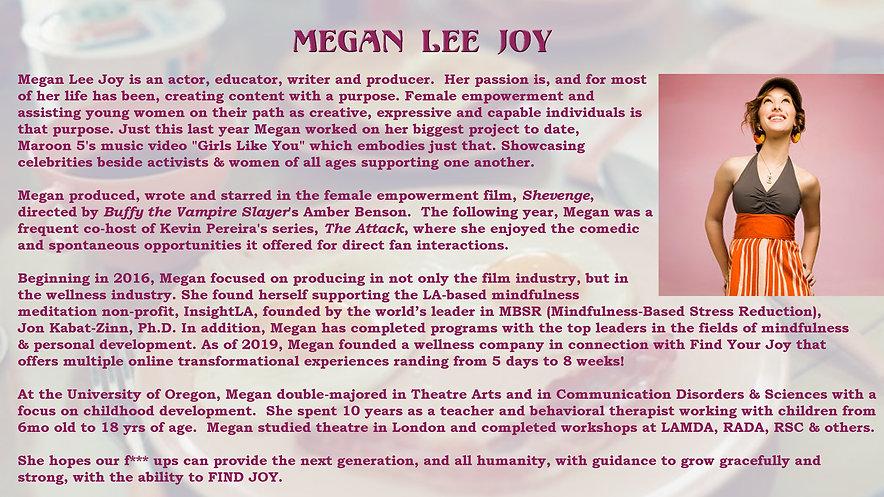 Megan Lee Joy Bio