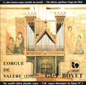 L'orgue historique de Valère II (Sion VS/Suisse)