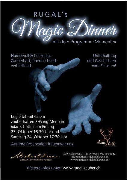 Flyer Magic Dinner Michaelskreuz Oktober