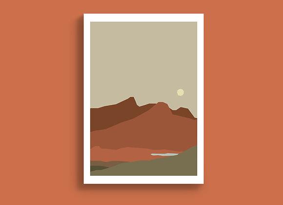 Desert Landscape A5 Print