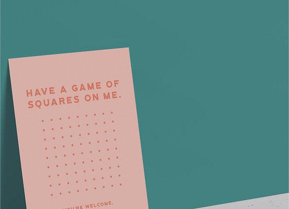 Squares Game Card