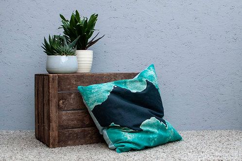 Small Rock Cushion - Full Blue Backing