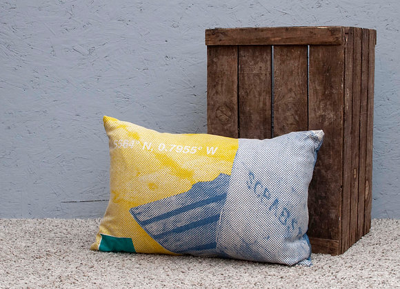 Staithes Coordinates Cushion - Lime, Teal and blue Cushion