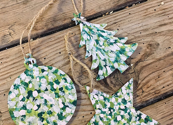 Forest Green Wooden Christmas Decoration Pack