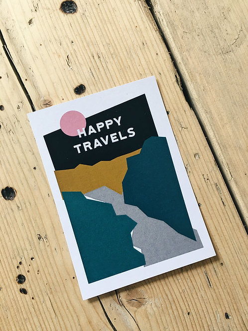 Happy Travels A6 Art Print