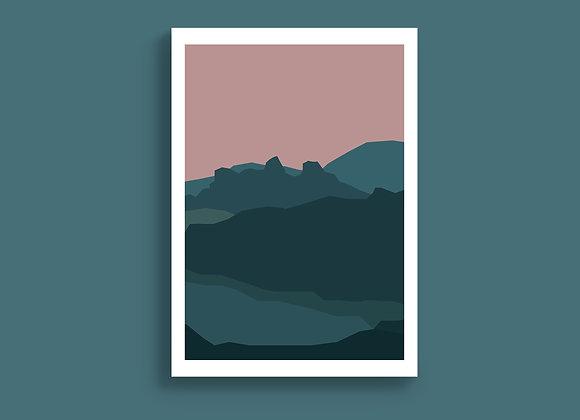 Twilight Layers A5 Print