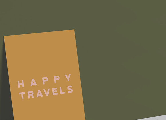 Happy Travels Card