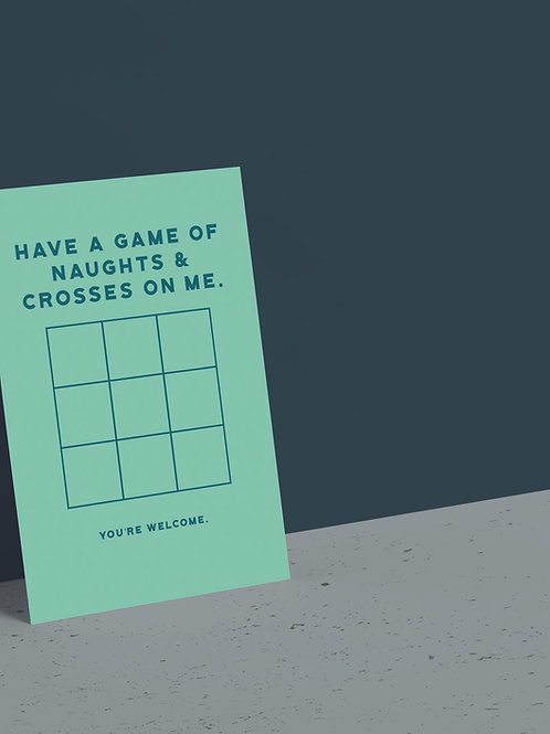 Naughts & Crosses Game Card