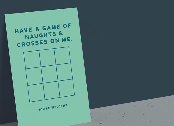 Naughts & Crosses Game Card