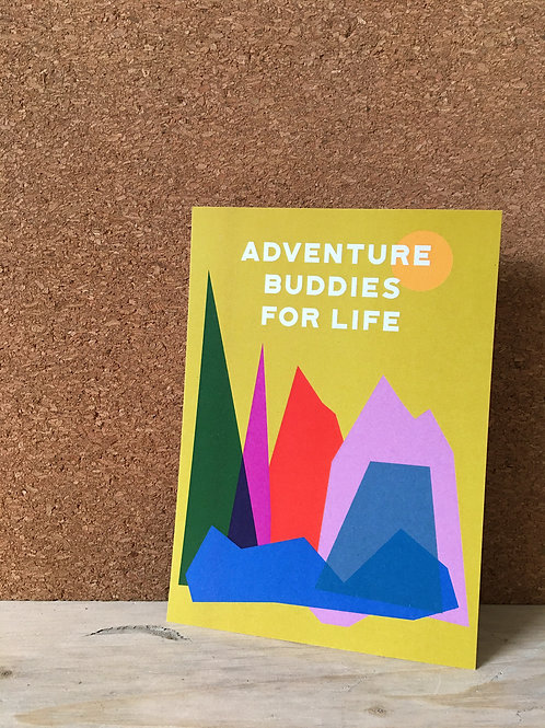 Adventure Buddies A6 Art Print