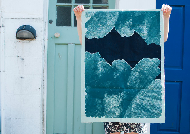 Blue Rock Print, Staithes