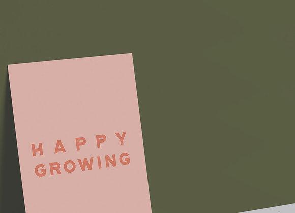 Happy Growing Card