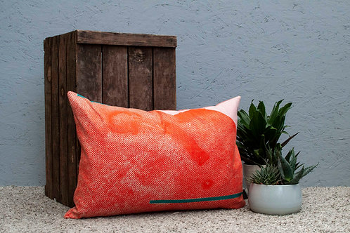 Staithes Crate Cushion - Orange and Pink Cushion