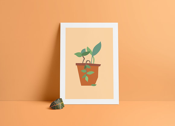 Terracotta Planter A5 Print