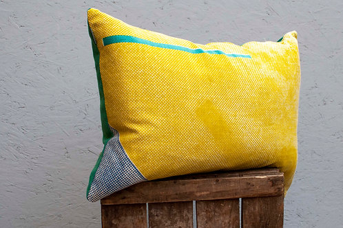 Staithes Crate Cushion - Lime, Teal and blue Cushion