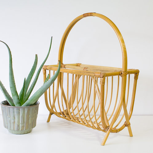 Bamboo Bentwood Magazine Holder Rack | Storage Organization