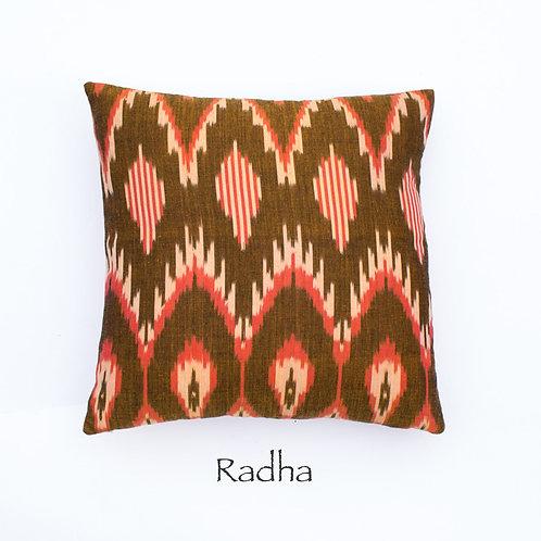 Ikat Throw Pillow Case | Radhe | 18 Square or 20 x 12 Lumbar