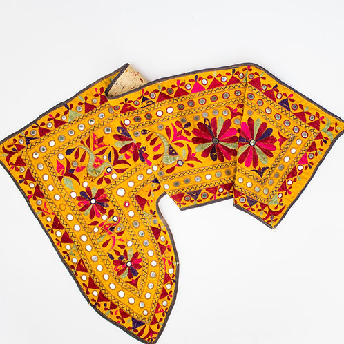 Vintage Indian Toran Embroidered and Mirrored | Banjara Tribe