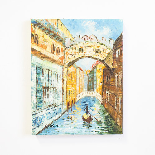 Impressionist Painting | The Canals of Venice | Vintage Scenic Art