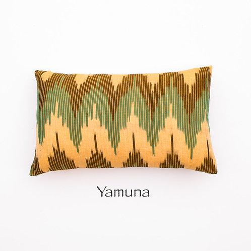 Ikat Throw Pillow Case | Yamuna | 18 Square or 20 x 12 Lumbar