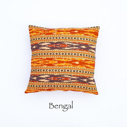 Ikat Throw Pillow Case |Bengal | 18 Square or 20 x 12 Lumbar