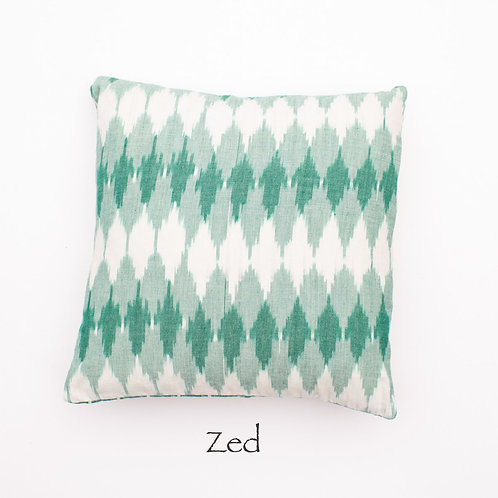 Ikat Throw Pillow Case | Zed | 18 Square or 20 x 12 Lumbar