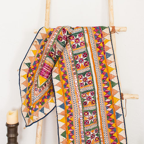 Vintage Indian Toran | Embroidered with Mirrors | Gujarat India