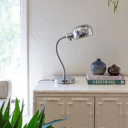 Chrome Gooseneck Desk Lamp | Atomic Dome Lamp