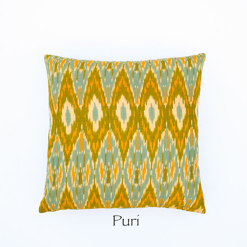 Ikat Throw Pillow Case | Puri | 18 Square or 20 x 12 Lumbar