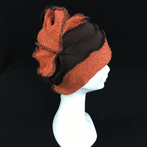 Orange and brown eco friendly hat