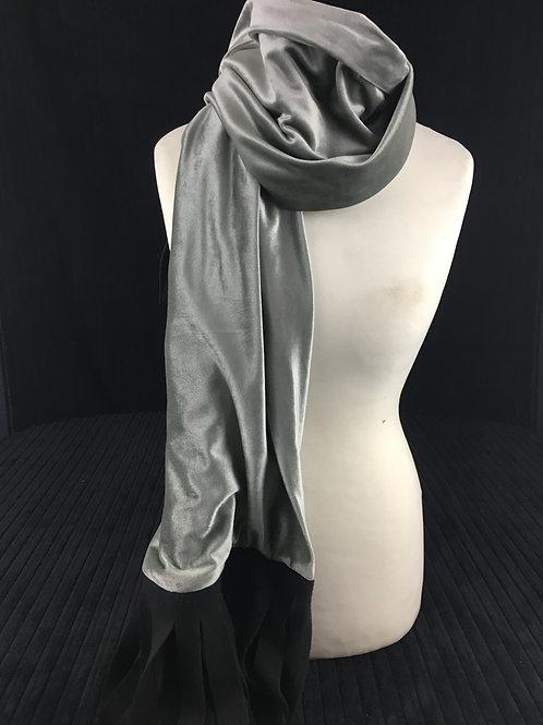 Soft silver scarf