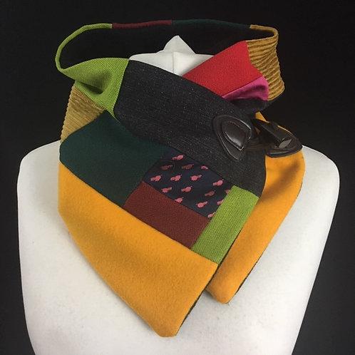 Bright patchwork neckwarmer