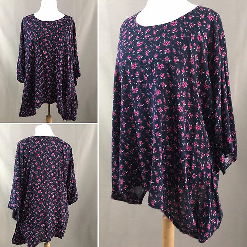 Loose fitting floral tunic
