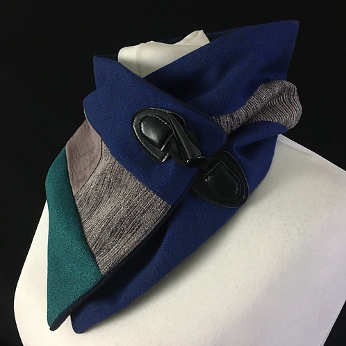 Blue teal and purple neck warm